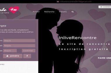 Création du site : Inliverencontre.com