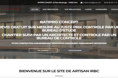 Création du site : Batipro-concept.fr