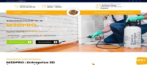 Création site vitrine m3dpro.Fr